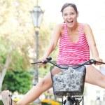 Woman riding a bike — Stock Photo #45207109