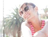 Woman enjoying  summer day — Stock Photo