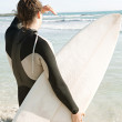 Young surfer man — Stock Photo