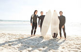Surfers men standing — Стоковое фото