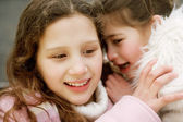 Girl children sisters — Stock Photo