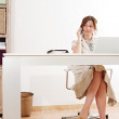Businesswoman sitting at her work — Stock Photo #46966297