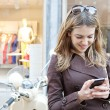 Woman using smartphone — Stock Photo #47005205