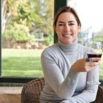 Woman  drinking wine — Stock Photo #47345261
