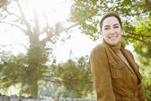Woman visiting  forest — Stock Photo