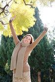 Mature woman reaching — Stock Photo