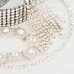 Luxurious diamond bracelets — Stock Photo