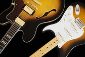 Two electric guitars — Stock Photo