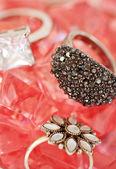 Luxury precious stones rings — Stock Photo