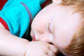 Baby boy toddler sleeping — Stock Photo