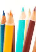 Pencils pointing upwards — Foto Stock
