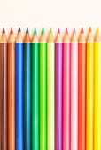 Multi colored drawing pencils — Stock Photo