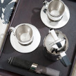 Silver set of coffee for two — Stock Photo #48297489