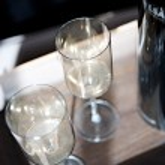 Elegant set of fine glasses for two — Stock Photo #48297527