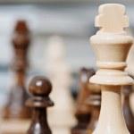 King chess wooden piece — ストック写真