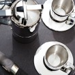 Silver set of coffee for two — Stock Photo #48297865