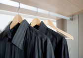 Businessman tidy black shirts — Stock Photo