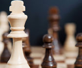 King chess wooden piece — Stock Photo