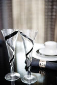 Festive diner table set — Stock fotografie