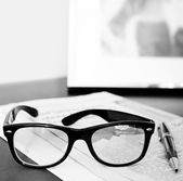 Pair of reading glasses — Stock Photo