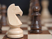 Knight chess wooden piece — Stock Photo