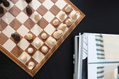 Traditional wooden game of chess — Stock Photo