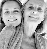 Mother and daughter being close and hugging — Stock Photo