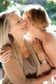 Mother and daughter spending time together — Stock Photo
