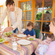 Family have lunch in the home — Stock Photo #48322329