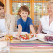 Family have lunch in the home — Stock Photo #48322421