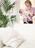 Mother and new baby daughter — Stock Photo