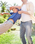 Father playing with his child boy — Stock Photo