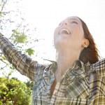 Woman enjoying the sun — Stock Photo #48446285