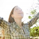 Woman enjoying the sun — Stock Photo #48446663