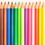 Bunch of colorful school art pencils — Stock Photo #48451055