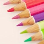 Bunch of colorful school art pencils — Stock Photo #48451201