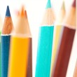 Bunch of colorful school art pencils — Stock Photo #48451321