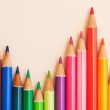 Bunch of colorful school art pencils — Stock Photo #48451501