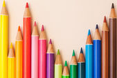 Bunch of colorful school art pencils — Foto Stock