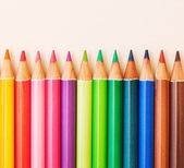 Bunch of colorful school art pencils — Stock Photo