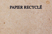 Recycled piece of handmade paper — Stock Photo