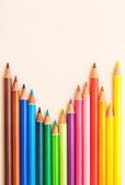 Bunch of colorful school art pencils — Stock Photo