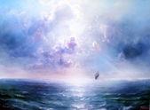 Seascape Open sea — Stock Photo
