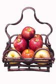 свежее яблоко в корзине — Стоковое фото