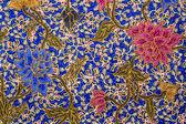 Flower batik pattern — Stock Photo