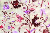 Brid and floweron batik fabric — Stock Photo