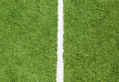 White line on soccer field grass — Stock Photo