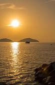 渔舟日出 — 图库照片