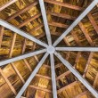 Wooden octagon ceiling — Stock Photo
