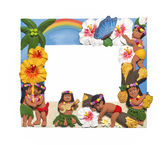 Hawaiian style frame — Stock Photo